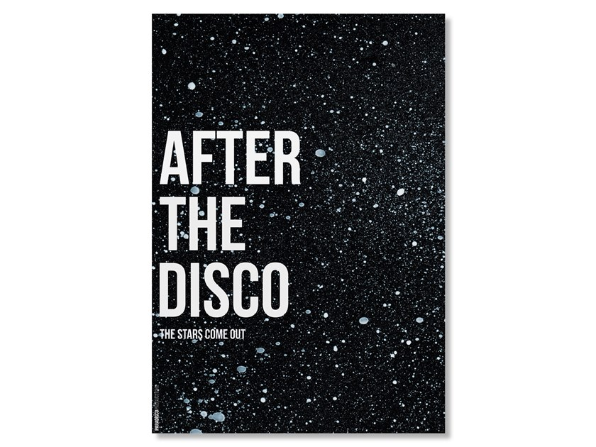 Print on silk satin paper AFTER THE DISCO by Paradisco Productions