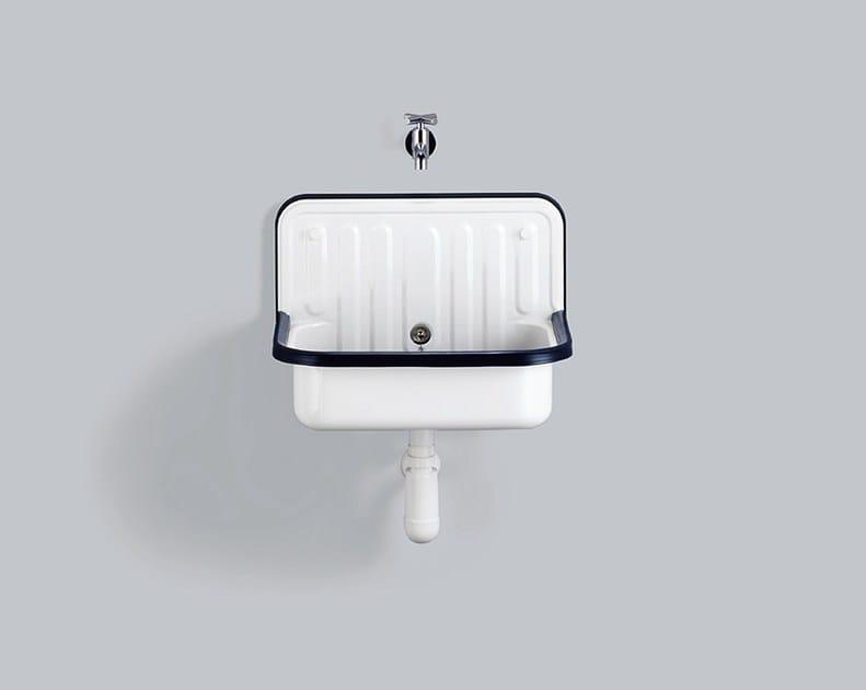 Bucket sink from glazed steel AG.STAHLFORM510Ü by Alape