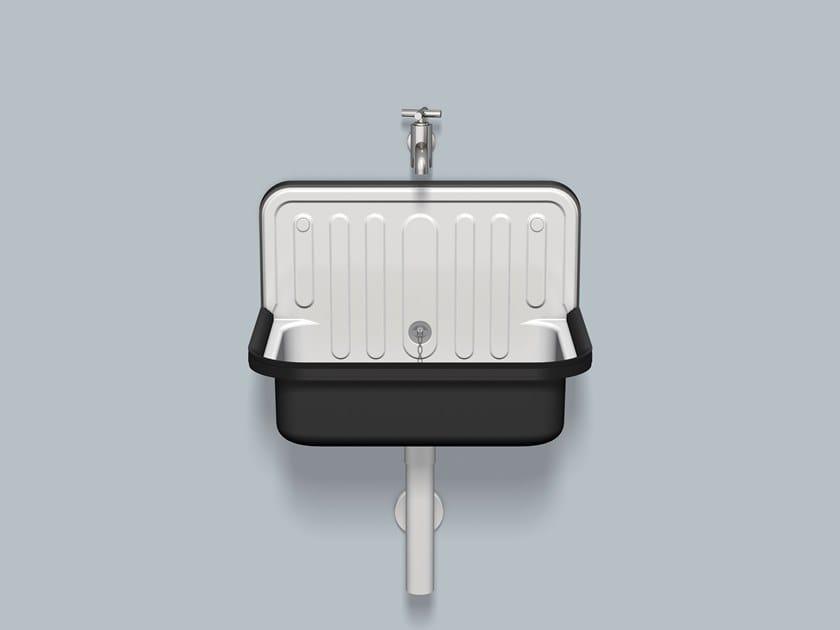 Utility sink AG.STAHLFORM510U Bicolor by Alape