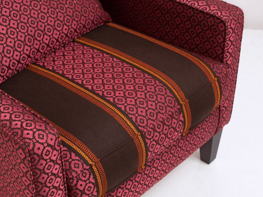 Striped linen upholstery fabric AGADIR by Equipo DRT