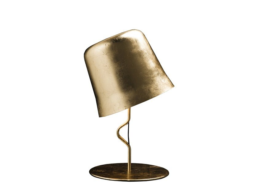Adjustable gold leaf table lamp AGATA TA by Contardi