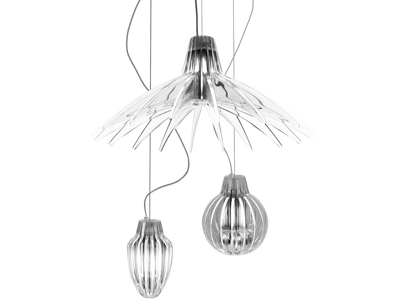 LED methacrylate pendant lamp AGAVE by LUCEPLAN