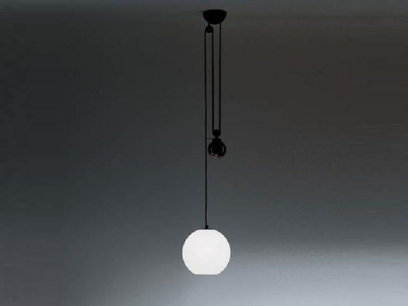 Direct light halogen pendant lamp AGGREGATO SALISCENDI SFERA by Artemide