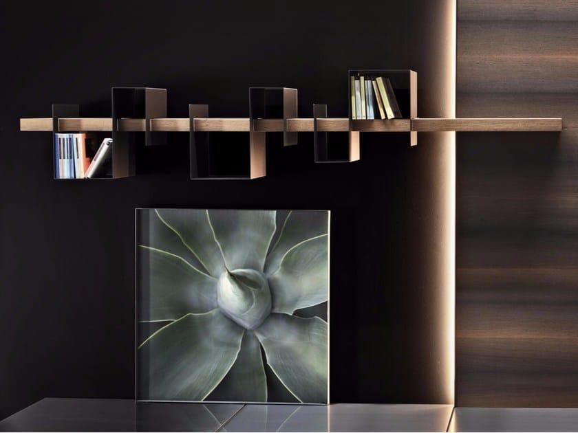 Mensola in legno e metallo verniciato AGO & FILO by Ronda Design