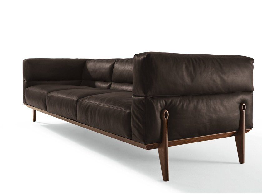 3 seater leather sofa AGO | Leather sofa by GIORGETTI