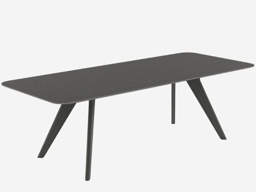 Tavolo da pranzo rettangolare in legno massello AGO | Tavolo rettangolare by Alias
