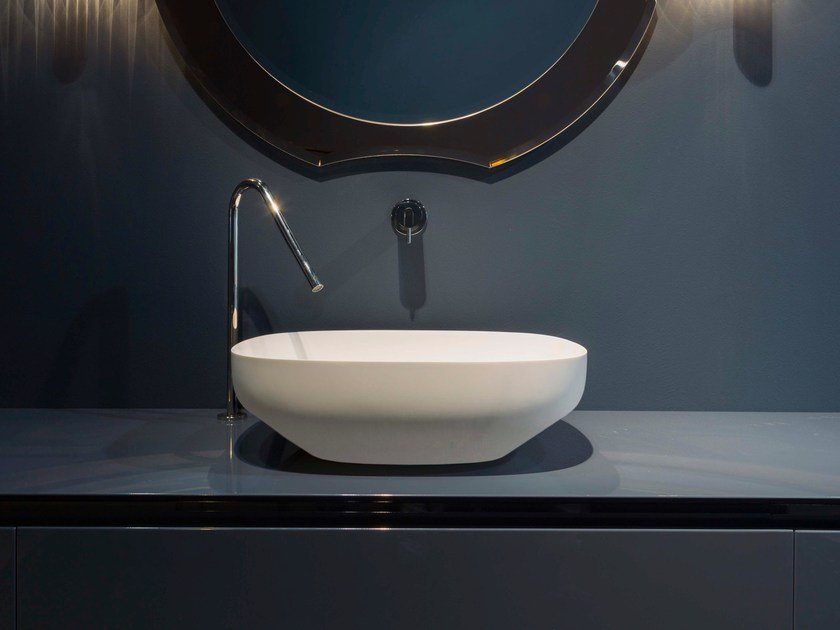 Countertop oval Flumood® washbasin AGO | Washbasin by Antonio Lupi Design