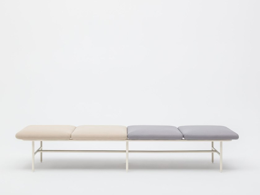 Backless fabric bench seating AGORA | Backless bench seating by MDD
