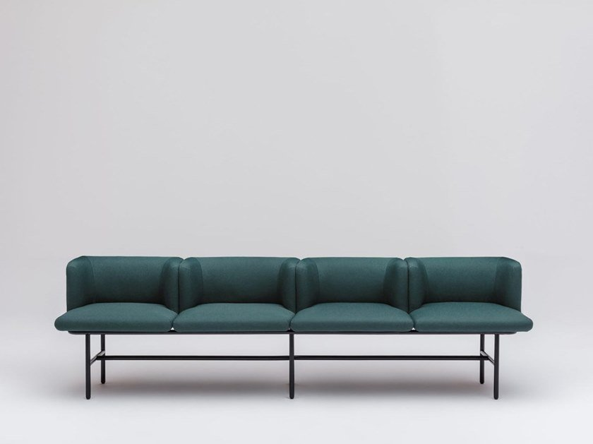 Fabric bench seating with back AGORA | Bench seating with back by MDD