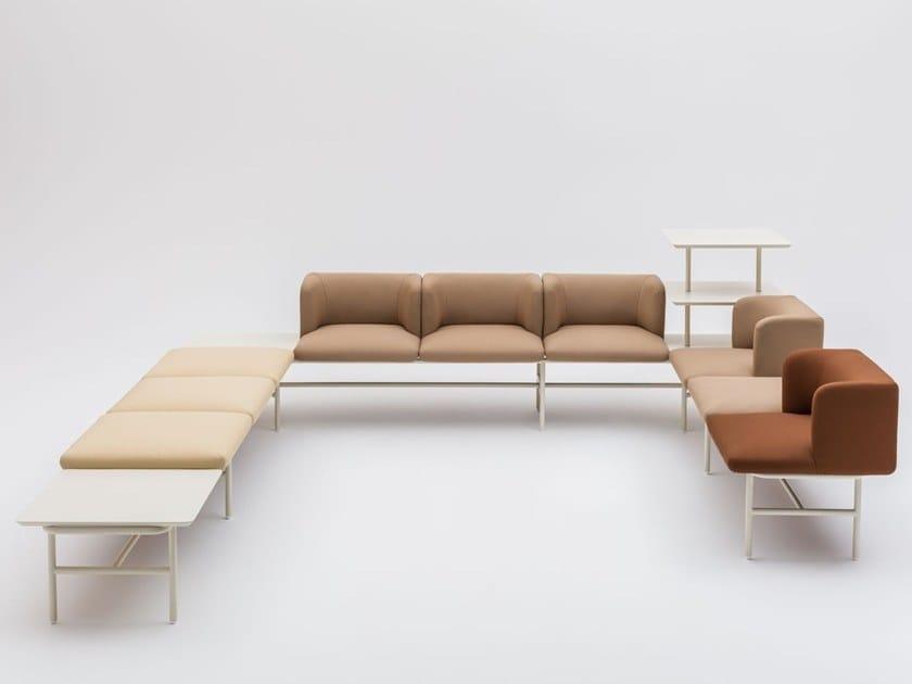 Sectional modular fabric sofa AGORA by MDD