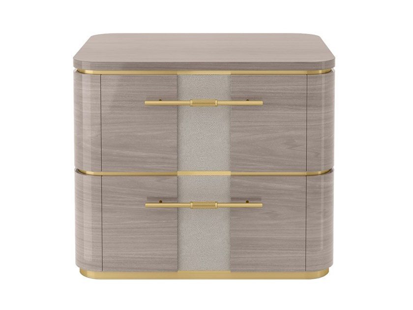 Rectangular bedside table with drawers AGRA | Bedside table by FRATO