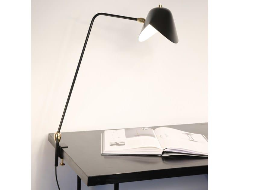 Lampada da scrivania orientabile in metallo AGRAFÉE DOUBLE ROTULES by Serge Mouille