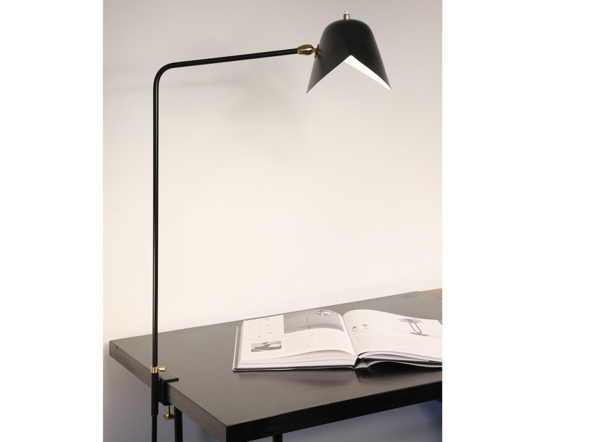 Lampada da scrivania orientabile in metallo AGRAFÉE SIMPLE by Serge Mouille