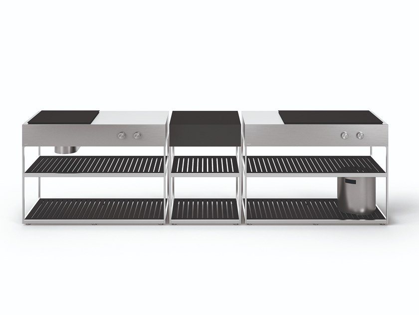 Gas outdoor kitchen with Barbecue AH01 by Boffi