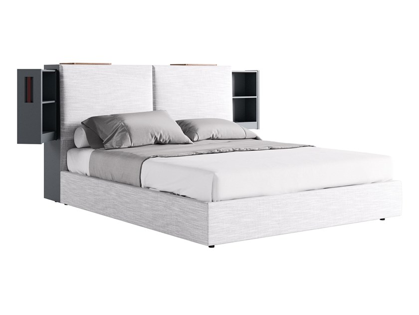 Hotel bed with storage headboard AIACE by JESSE