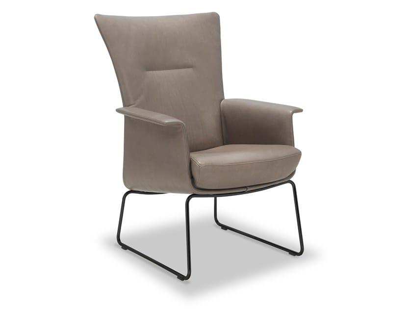 Sled base high-back armchair with armrests AIDA   High-back armchair by JORI