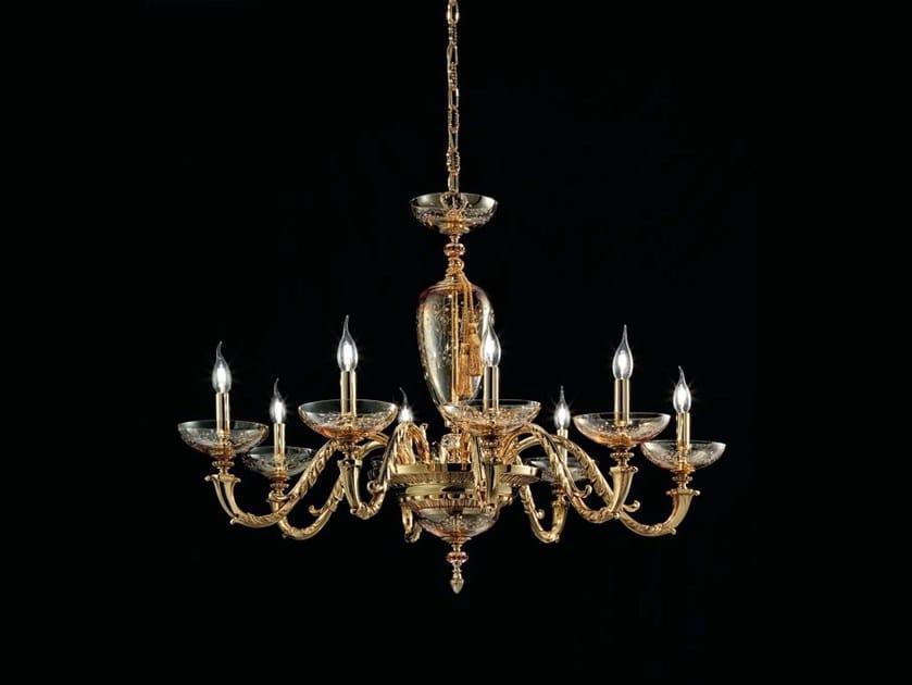 Lampadario in ottone aida l collezione aida by euroluce lampadari