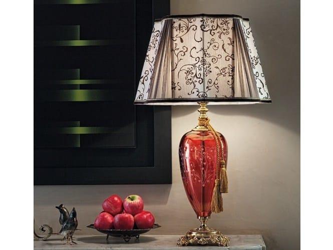 Brass table lamp AIDA LG1 by Euroluce Lampadari
