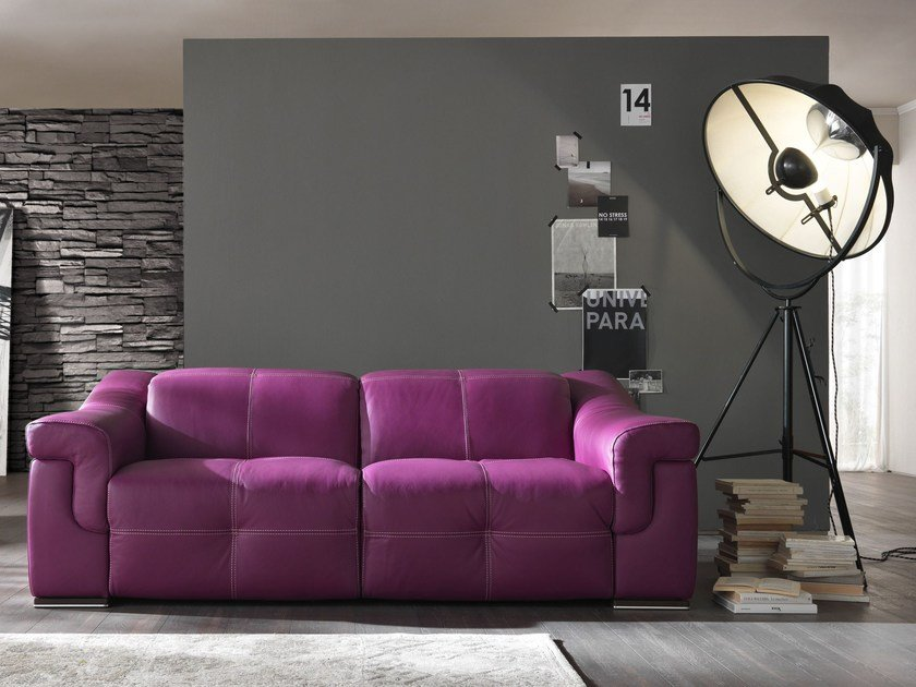 Leather sofa AIKO | Sofa by Egoitaliano