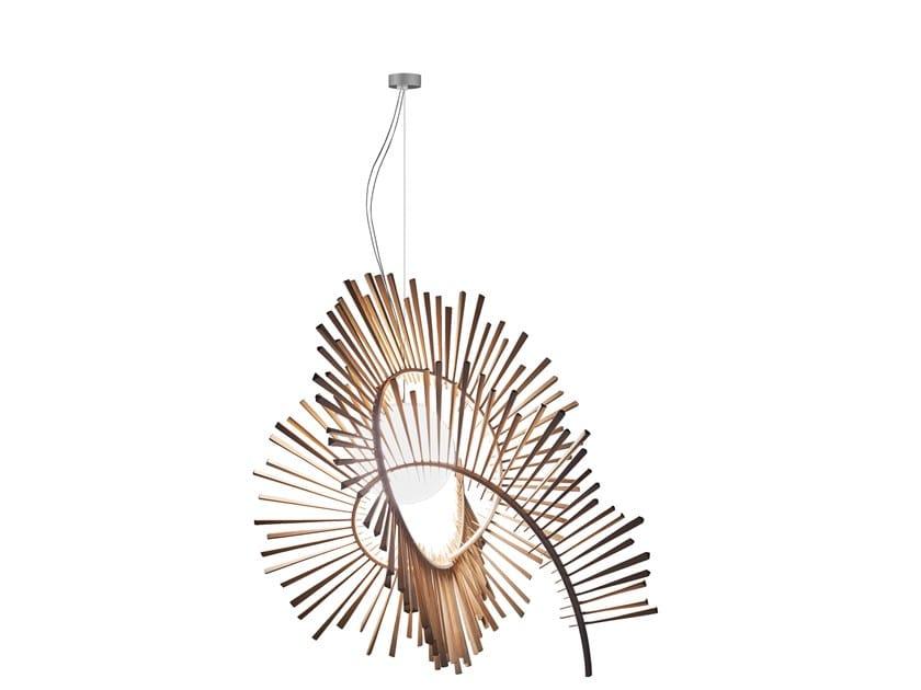 Lampada a sospensione a LED in frassino AIMEI by a by arturo alvarez