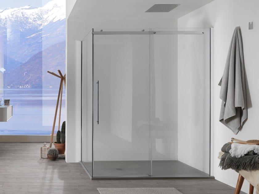 Box doccia in vetro con porta scorrevole AIR - 2 by INDA®