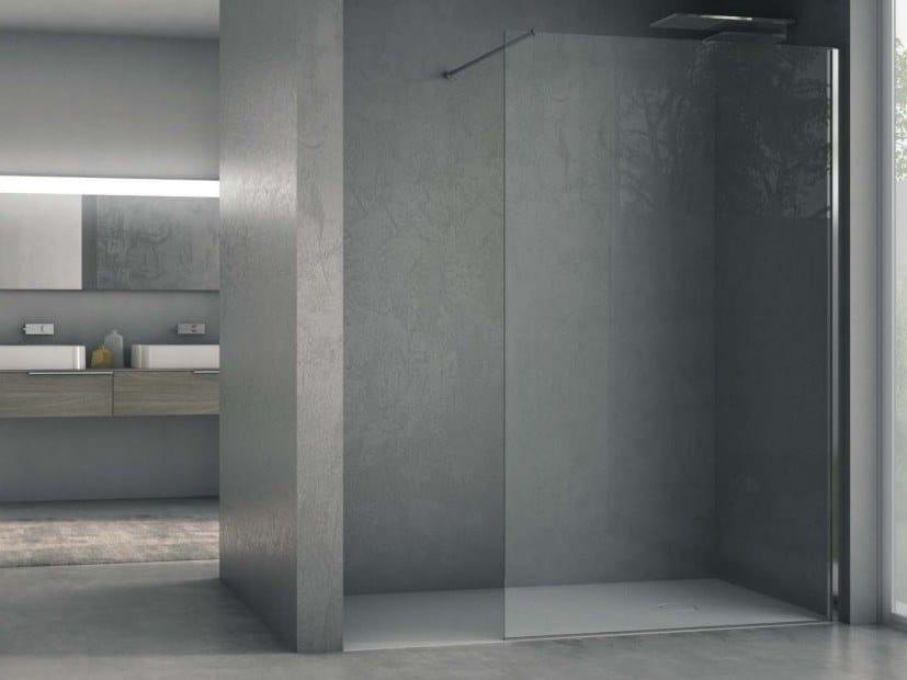 Glass Walk in shower AIR AIR1L by DISENIA