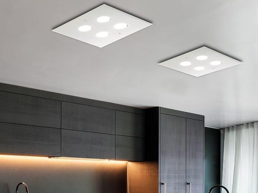 LED glass ceiling light AIR LIGHT | Ceiling lamp by Adriani e Rossi edizioni