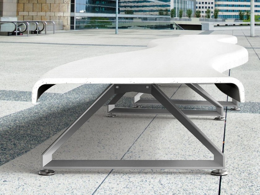 Modular UHPC Bench AIR-PORT C | UHPC Bench by Metalco