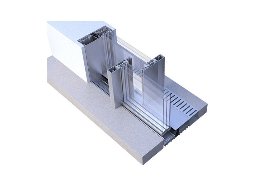 Aluminium pocket slinding window AIR+ by Punto Gold