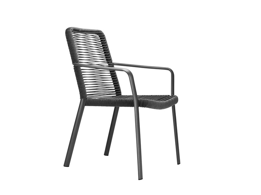 Stackable garden chair with armrests AIR by solpuri