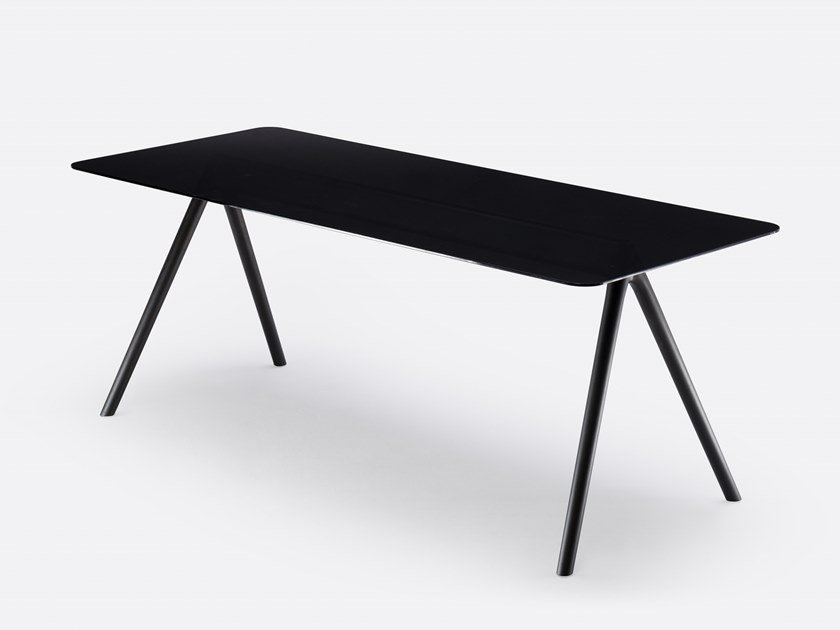 Rectangular glass table AIR TABLE GLASS by MS&WOOD