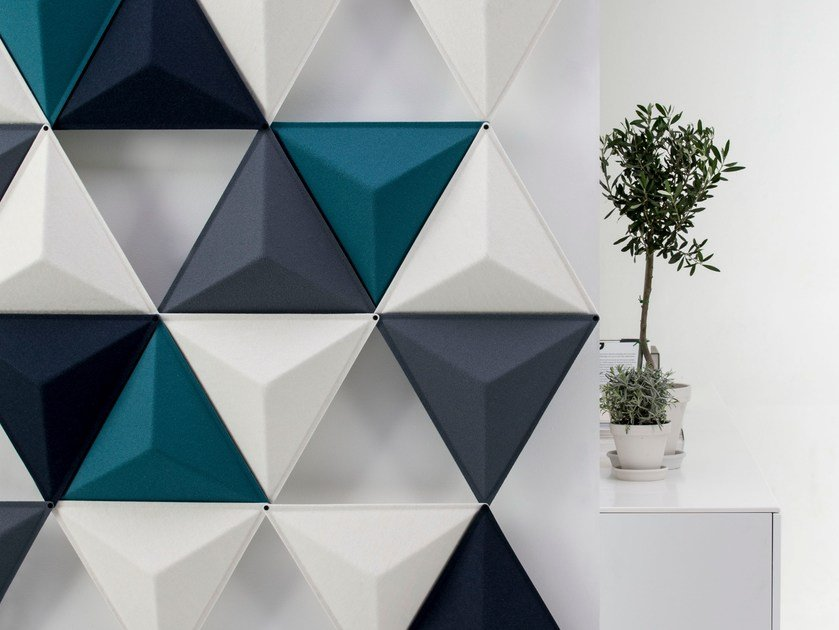 Sound absorbing modular workstation screen AIRCONE by Abstracta