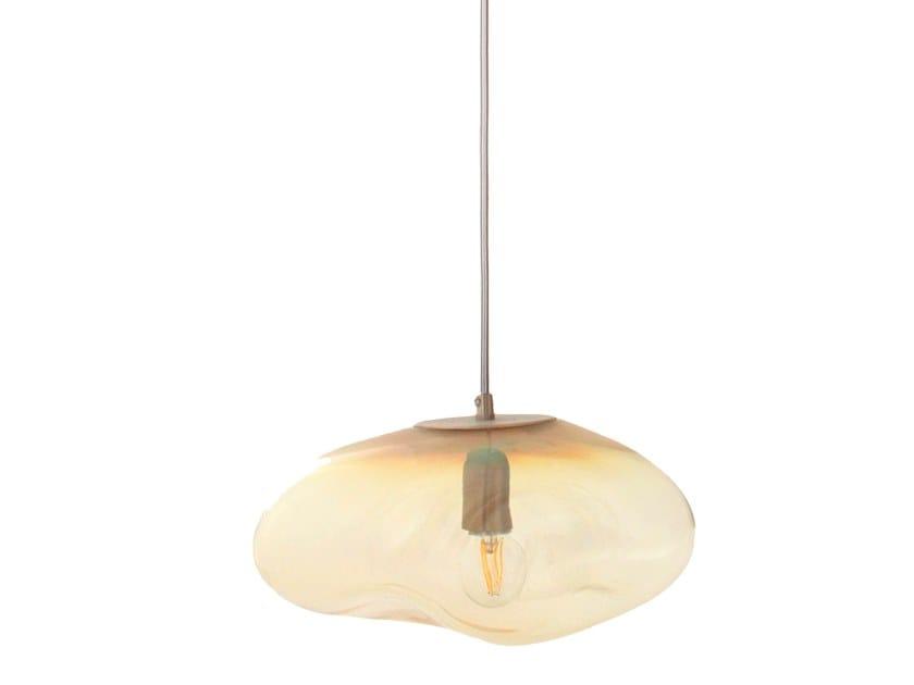 LED handmade blown glass pendant lamp AIRISI | Pendant lamp by ELOA