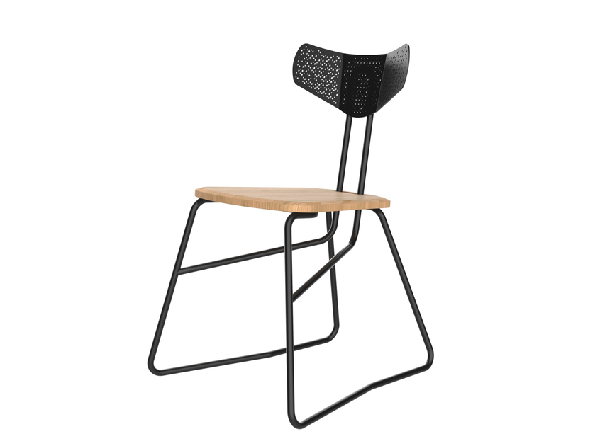 Steel and wood chair AIRO by Junction Fifteen