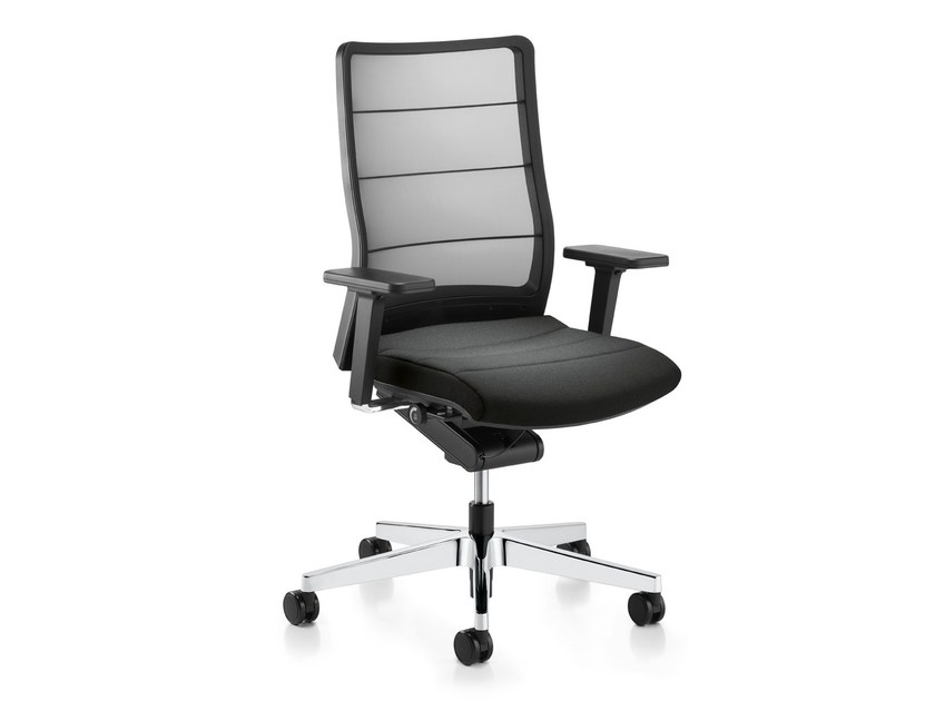 Ergonomic swivel mesh task chair AIRPAD 3C42 by Interstuhl