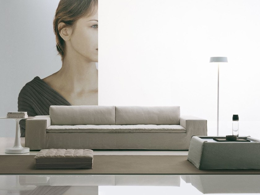 Fabric sofa with removable cover AIRPORT by poliform