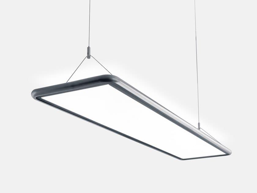 LED pendant lamp AIRTIME RECTANGULAR SUSPENDED G3/P3 by Lightnet