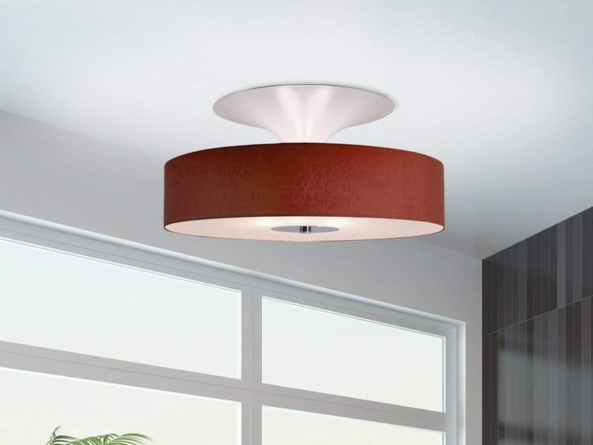 Direct-indirect light ceiling lamp AIRWAVE C5 by ILFARI