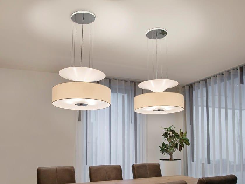 Direct-indirect light pendant lamp AIRWAVE H5+2 by ILFARI