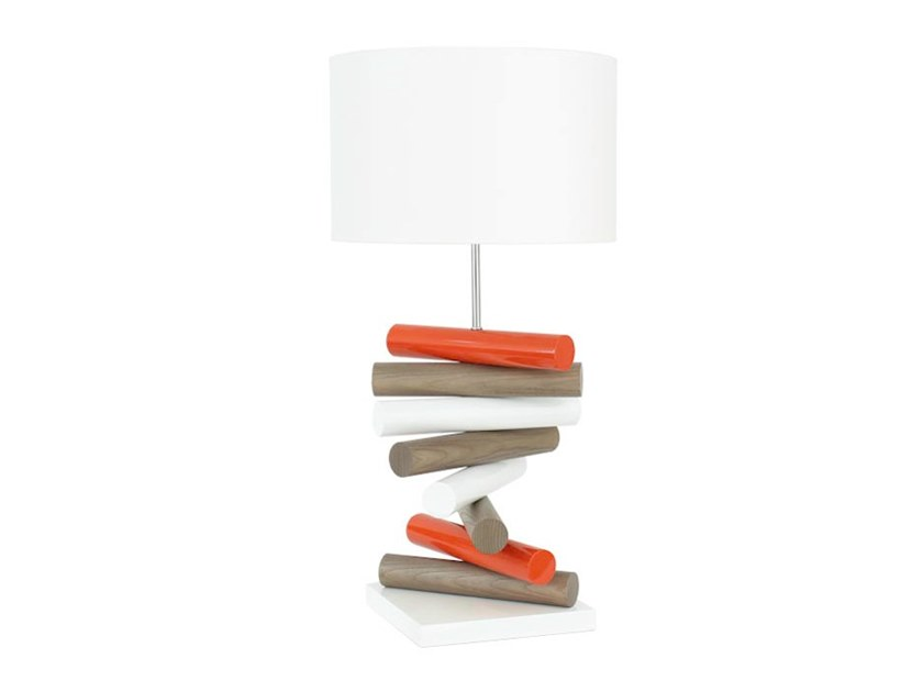 Wooden table lamp AIX by Flam & Luce