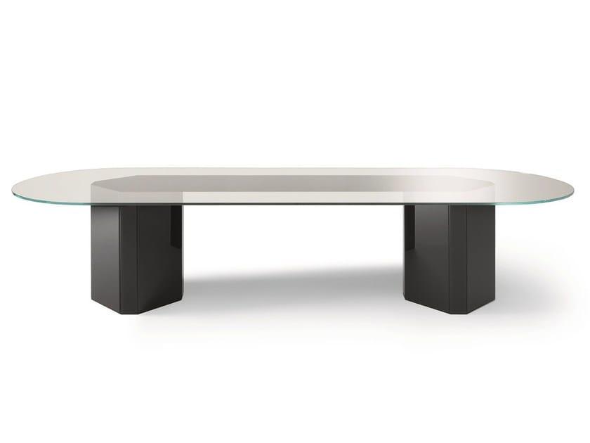 Oval crystal table AKIM | Oval table by Gallotti&Radice