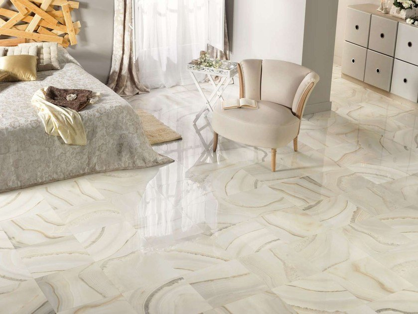 Porcelain stoneware wall tiles / flooring AKOYA by Museum