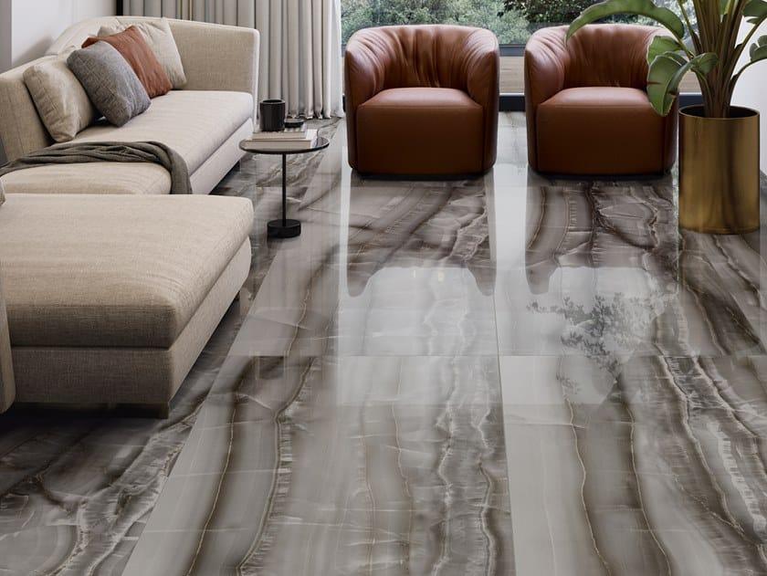 Pavimento/rivestimento in gres porcellanato effetto marmo AKOYA OCEAN by CERAMICA SANT'AGOSTINO