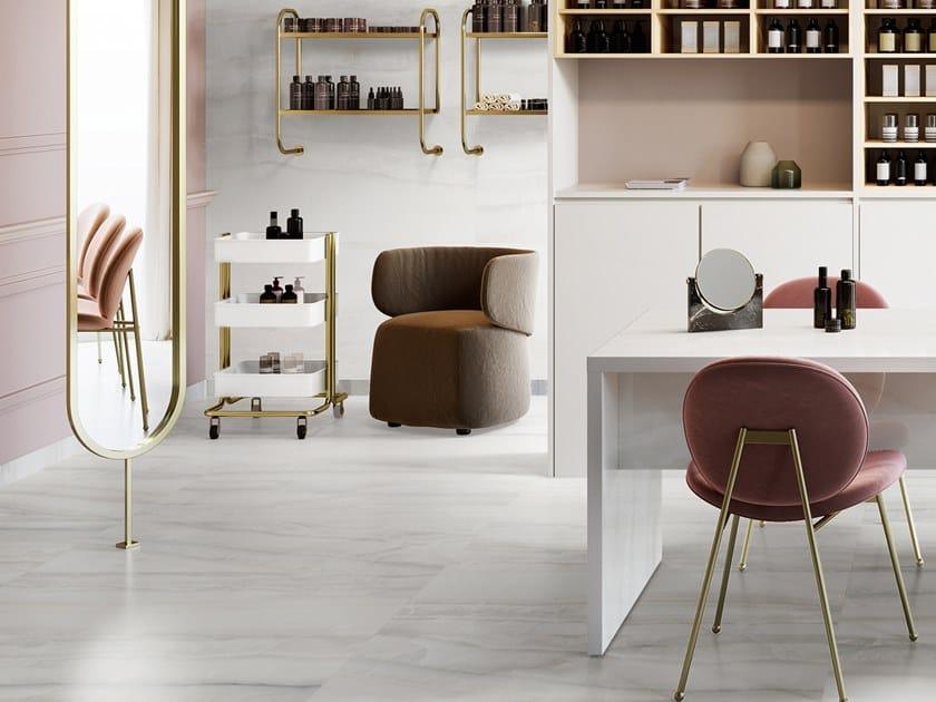 Pavimento/rivestimento in gres porcellanato effetto marmo AKOYA SILVER by CERAMICA SANT'AGOSTINO