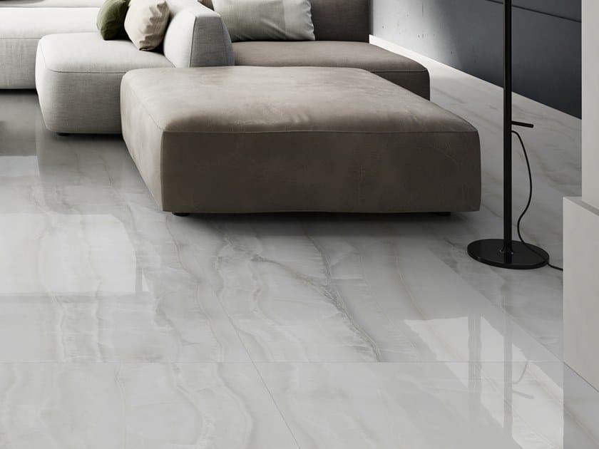 Pavimento/rivestimento in gres porcellanato effetto marmo AKOYA WHITE by CERAMICA SANT'AGOSTINO