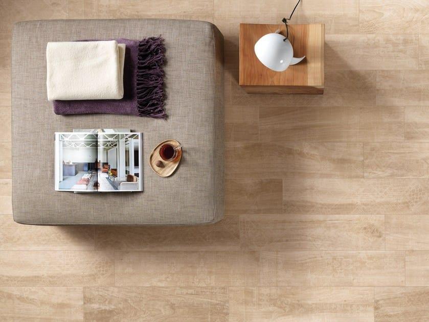 Pavimento/rivestimento in gres porcellanato effetto legno AKS CREAM by CERAMICA FONDOVALLE