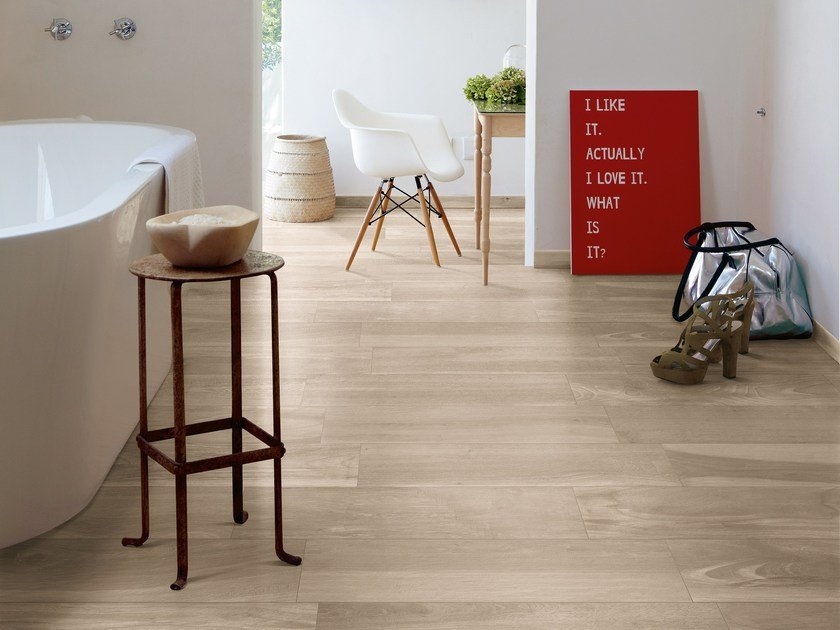 Porcelain stoneware wall/floor tiles with wood effect AKS FALLOW by CERAMICA FONDOVALLE