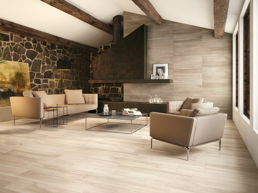 Porcelain stoneware wall/floor tiles with wood effect AKS VANILLA by CERAMICA FONDOVALLE
