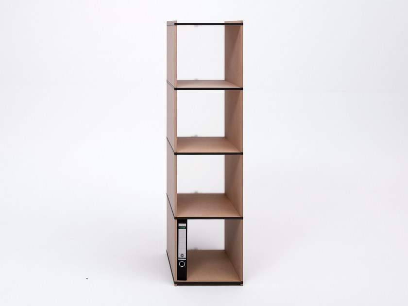 Tojo Möbel modular wood fibre shelving unit aktenpack by tojo möbel design