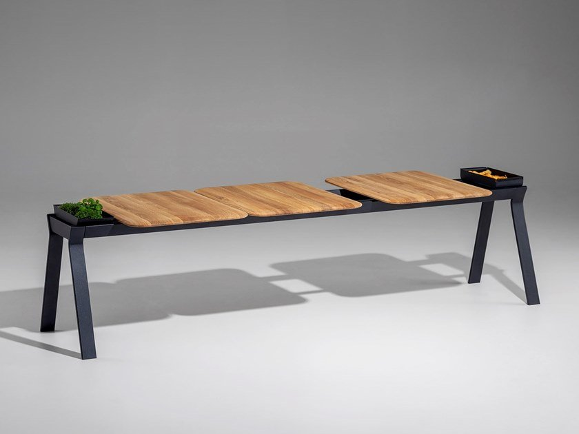 Wooden bench ALA by Nunc